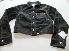 WOMENS LEVI JUNIOR JACKET BLACK CORDUROY SIZE S  NEW WITH TAGS  RED TAB