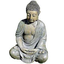 Deko-Figur Buddha, Kunstharz, 40 cm, Statue Figur Budda, große Steinfigur 40cm