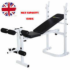 Folding Weight Bench Multi Gym Dumbell Sit Up Workout Abs Leg Bar Preacher Curl