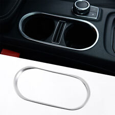 ABS Chrome Cup Holder Cover Trim For Benz CLA C117 W117 GLA Class A B 2014-2016