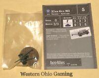 Axis & Allies Miniatures North Africa 37mm Gun M3 #20/60 NEW A&A