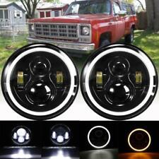 "2X LED Headlights 7"" Hi-Lo Beam H4 H13 DRL For Chevrolet C10 / Blazer / Suburban"