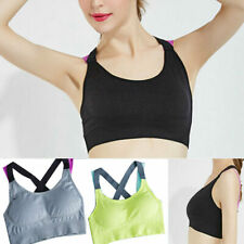 ports Bra Women Gym Fitness Workout Tank Top Yoga Running Stretch Racerback New