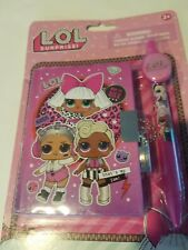 Girls LOL Surprise Brand Purple Mini Diary Lock Key Ink Pen Ages 3+