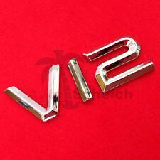 V12 Emblem Signs Chrome Lettering Car Sticker Bonnet Fender Logo 3d
