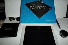 Wacom Bamboo Graphics Drawing Tablet 5.8x3.7 Cable Stylus Black USB 512 MTE-450