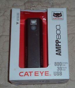 CatEye Ampp 800 Front Bicycle Light USB Rechargable - Black - BNIB