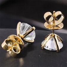 VVS1/D 2.00 ct Diamond Earrings Fine Solid 14K Yellow Gold Round Cut Stud PN