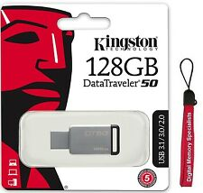 Kingston 128GB USB DataTraveler 50 128G USB 3.1 Pen Drive DT50/128GB +Lanyard