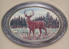 Belt Buckle Barlow Photo Reproduction of Deer Standing Silver Color 592605c NEW