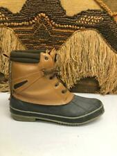 Rugged Outback Mens Insulated Brown/Black  Leather Rubber Boot Size 13