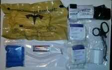 TACTICAL Custom Trauma IFAK Refill Kit OLAES & H&H Gauze NAR Red Tip Tourniquet