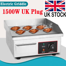 More details for electric countertop griddle commercial kitchen hot plate bacon grill stainless