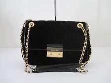 NEW Michael Kors Sloan Large Chain Black Quilted Shoulder Bag