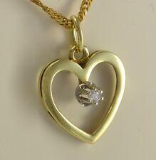 Herz Anhänger mit ca. 0.05 ct Brillant / 585er 14 Karat Gold / ohne Kette
