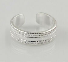 Adjustable line Design 925 Silver Open Ring Toe Ring