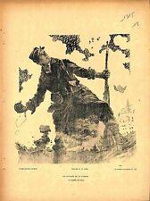 Journée du Poilus Soldat Tranchée Grenades Affiche de Maurice Neumont 1915 WWI