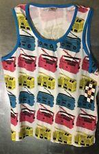 L Geometric Regular Size Sleeveless T-Shirts for Men