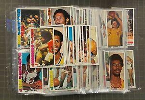 1976-77 Topps Basketball Complete Set (144) Abdul Jabbar Julius Erving HOF