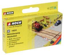 Noch 14624 N Gauge L-C RAILROAD CROSSING WOODEN PLANKS (Laser Cut Minis Kit )#