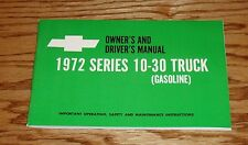 1972 Chevrolet Series 10-30 Truck Owners Operators Manual 72 Chevy Pickup