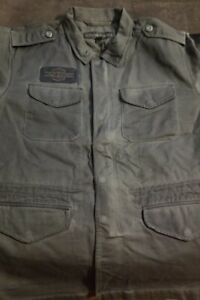 Harley-Davidson Men's Logo Slim Fit Field Jacket, Black Olive, Medium   Cotton