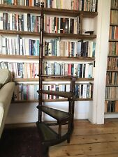 More details for antique victorian style spiral library steps / ladder free uk delivery
