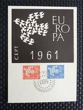 SCHWEIZ MK 1961 EUROPA CEPT TAUBE PIGEON MAXIMUMKARTE MAXIMUM CARD MC CM c4605