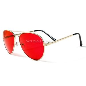 Mens Womens Mirrored Shades Aviator Sunglasses Retro Designer Police Pilot Metal