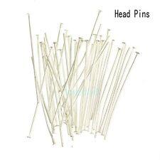 Wholesale Gold Silver Head/Eye/Ball Pins Finding 21/24 Gauge 100pcs Free Ship