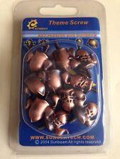 NEW Pack of 10 x Gladiator Helmet PC Thumb Screws 3.3mm - 6/32 - Copper Finish