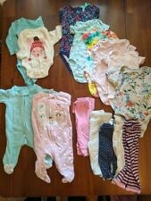 Newborn 0-6Months Baby Girl Huge Clothing Lot of 48+ Mostly Carters