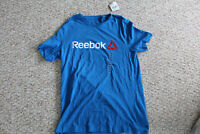 Men's Large Light Blue, Reebok with White/Red Logo T-Shirt, New With Tags
