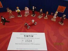 tintin,mini  pixi, série de 10 personnages, hergé, no leblon, figurines en plomb