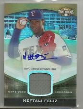 2011 Triple Threads Baseball Neftali Feliz Autograph Jersey Card # 3/75 (CSC)