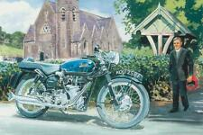 Velocette thruxton vicaire 59 club british moto moto carte d'anniversaire