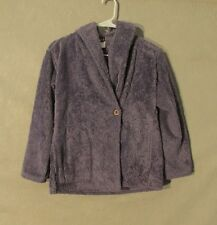 Z8879 Junior's Patagonia Purple Fleece Hooded Jacket- M (10)
