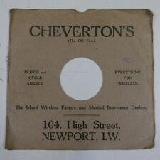 """10"""" 78 rpm gramophone record sleeve CHEVERTONS the old firm , newport"""