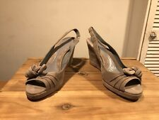 JIGSAW Grey Suede Mushroom Knot Front Emma Shoes!Size UK6! New! Only £79,90!!!