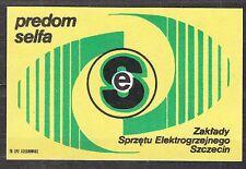 POLAND 1976 Matchbox Label - Cat.G#408 Equipment Factory Electro-heating PREDOM-