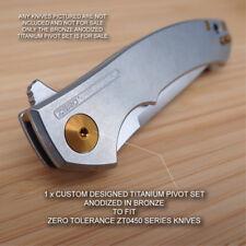 Zero Tolerance ZT0450 ZT 450 0450 450CF Custom Titanium Pivot Anodized BRONZE