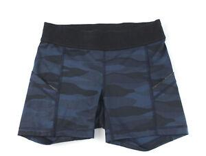 Lululemon Women's Navy Blue Black Print Low Rise Shorts Size 4