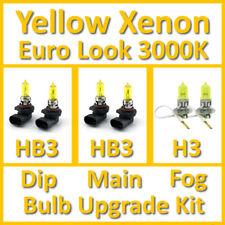 Warm White 3000K Yellow Xenon Headlight Bulb Set Main Dip Fog HB3 HB3 H3 Kit