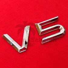 V5 Emblem Signs Chrome Lettering Car Sticker Bonnet Fender Logo 3d