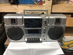 Vintage SANYO Boombox portable radio M9815K Cassette 5 BAND AM FM SW1 SW2 MW