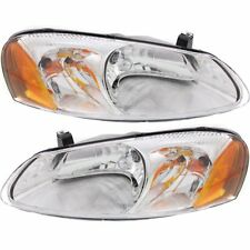 Headlight Set For 2001-2006 Dodge Stratus Driver and Passenger Side w/ bulb
