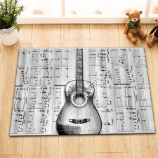 Guitar Music Score Welcome Porch Door Mat Non-Slip Kitchen Bathroom Floor Rug