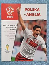 2012 - POLAND v ENGLAND PROGRAMME - WORLD CUP 2014 QUALIFIER