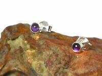 AMETHYST Sterling Silver 925 Gemstone Earrings / STUDS - 4 mm