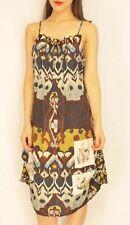 #savingglory BLEU BLANC ROUGE Silk Bird Tribal Dress France Au 12 US 8 Eu 40